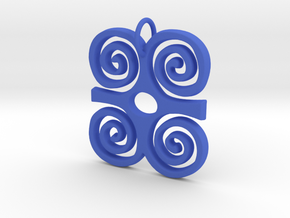 DWENNIMMEN (Adinkra Symbol of Strength) in Blue Processed Versatile Plastic