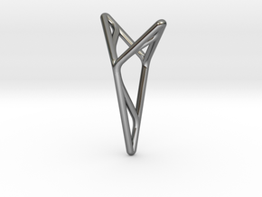 YOUNIVERSAL M3, Pendant. Stylized Pureness in Fine Detail Polished Silver