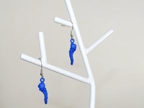 Shanti's Grape EarRings in Blue Processed Versatile Plastic