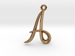 A Initial Charm in Polished Brass