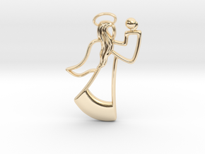 Angel Pendant in 14k Gold Plated Brass