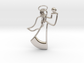 Angel Necklace in Rhodium Plated Brass