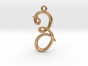 Z Initial Charm in Polished Bronze