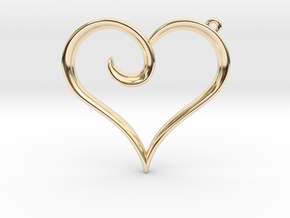 The Heart Pendant in 14k Gold Plated Brass