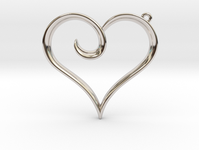 The Heart Pendant in Rhodium Plated