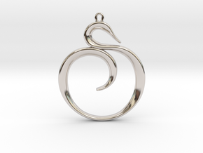 The Spiral Pendant in Rhodium Plated Brass