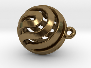 Ball-small-14-3 in Polished Bronze