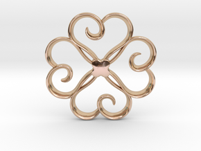 The Clover Pendant in 14k Rose Gold Plated Brass