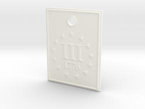 1776 III% Pendant in White Processed Versatile Plastic