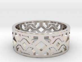 Octal Geometry  Ring Size 6 in Platinum