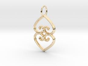 ASASE YE DURU (Adinkra Symbol of Mother Earth) in 14k Gold Plated Brass