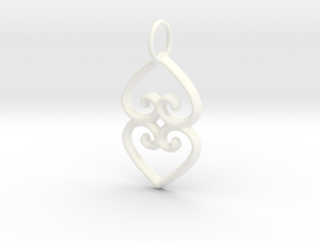ASASE YE DURU (Adinkra Symbol of Mother Earth) in White Processed Versatile Plastic