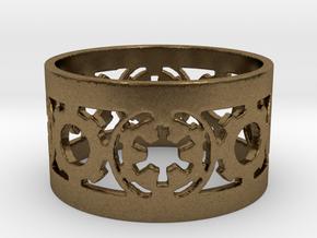 DarkSide Ring alfa  Size 10 in Natural Bronze