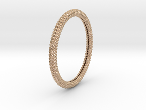 SCALES BANGLE 2.5in ID in 14k Rose Gold Plated Brass