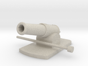 Miniature Metal Functional Cannon in Natural Sandstone