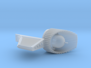 TOS 18 inch nacelle end cap  in Smooth Fine Detail Plastic