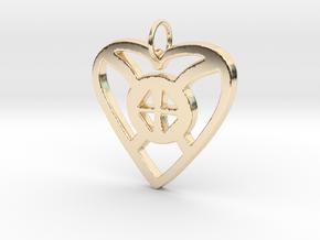 ONYANKOPON ADOM NTI BIRIBIARA BEYE YIE in 14k Gold Plated Brass