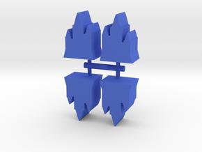 Castle Towers Meeple, 4-set in Blue Processed Versatile Plastic
