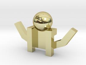 Board Game 'Tsumi Yoga' Block#6 in 18k Gold Plated Brass