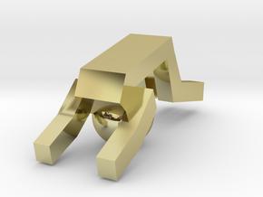 Board Game 'Tsumi Yoga' Block#9 in 18k Gold Plated Brass