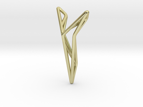 YOUNIVERSAL STRUTCURA, Pendant. Structured Eleganc in 18k Gold Plated Brass
