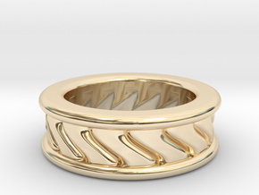 Chunky Vortex Ring in 14K Yellow Gold