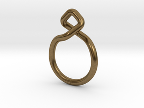 Dancing D.01, Ring US size 3, d=14mm  in Natural Bronze: 3 / 44