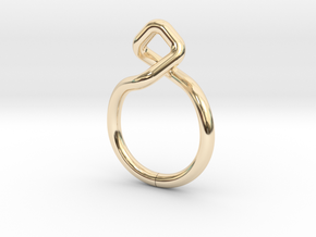 Dancing D.01, Ring US size 3, d=14mm  in 14k Gold Plated Brass: 3 / 44