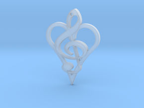 Music From The Heart Pendant in Smooth Fine Detail Plastic