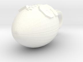 Football Pendant #16 in White Processed Versatile Plastic