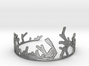 Growing Bracelet v.2 in Fine Detail Polished Silver