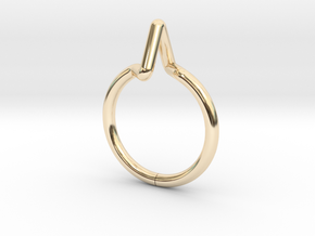 Summit Ring S.02 US size 3,  d=14mm in 14k Gold Plated Brass: 3 / 44