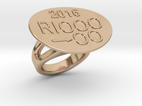 Rio 2016 Ring 23 - Italian Size 23 in 14k Rose Gold Plated Brass