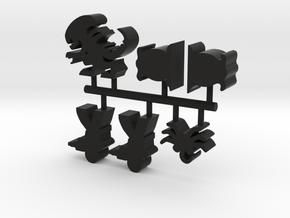 Game Piece, Stalker Alien Set in Black Natural Versatile Plastic
