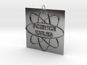 Science Rules! in Polished Silver