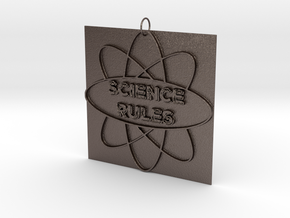 Science Rules! in Polished Bronzed Silver Steel