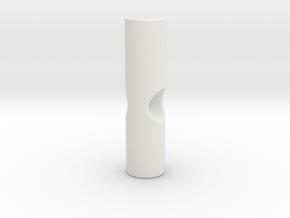 Umbrella rib tip 3mm plastic - 2.6mm metal in White Natural Versatile Plastic