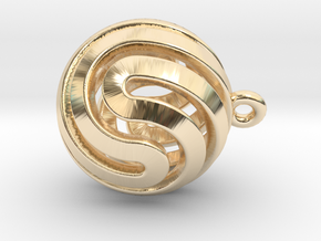 Ball-small-14-5 in 14k Gold Plated Brass