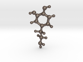 Dopamine Molecular Structure in Polished Bronzed Silver Steel