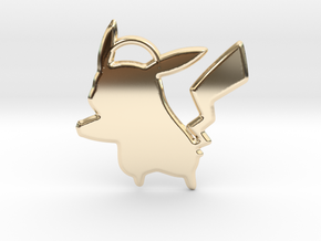 Pikachu Keychain in 14k Gold Plated
