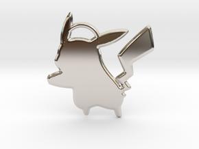 Pikachu Keychain in Rhodium Plated Brass