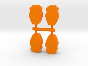 Ancient Vase Meeple, 4-set in Orange Processed Versatile Plastic