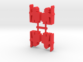 Roman Soldier Meeple, 4-set in Red Processed Versatile Plastic