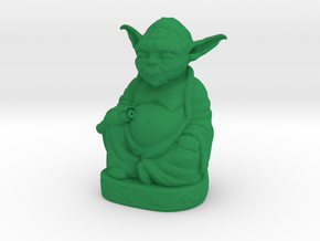 Yoda Buddha with Lightsaber  in Green Strong & Flexible Polished