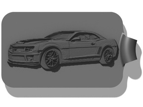 Camaro Key Fob in Black Strong & Flexible
