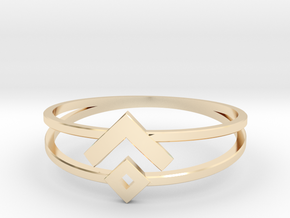 Space Oddity ring size 7.5 in 14K Yellow Gold