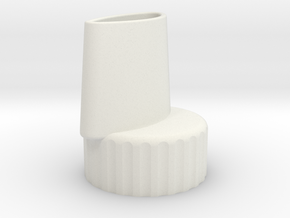 Bottle Adapter in White Natural Versatile Plastic