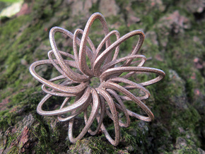 9 Point Slinky Star - 5cm in Stainless Steel