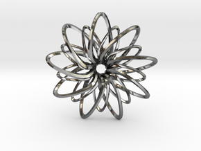 9 Point Slinky Star - 5cm in Fine Detail Polished Silver