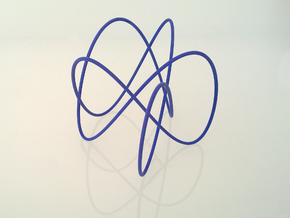 Lissajous (3, 5, 2) (π, 1.1 * π, 1.2 * π) in Metallic Plastic